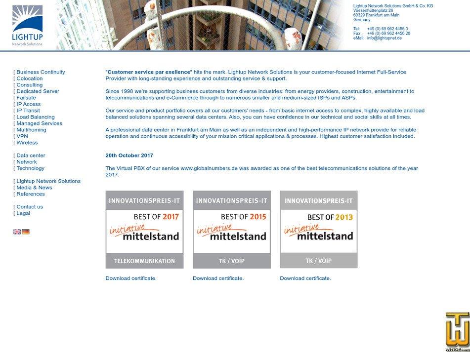 lightupnet.de Screenshot