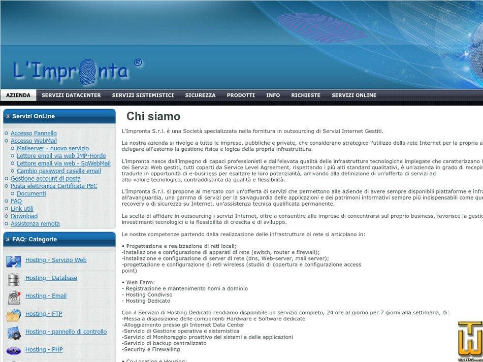 limpronta.net Screenshot