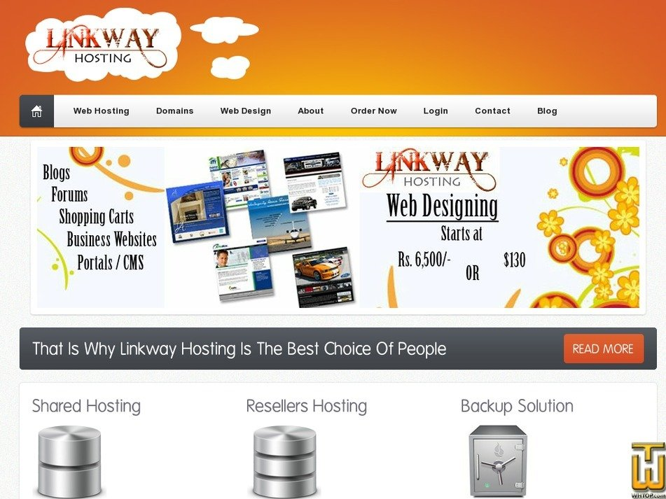 linkwayhosting.com Screenshot