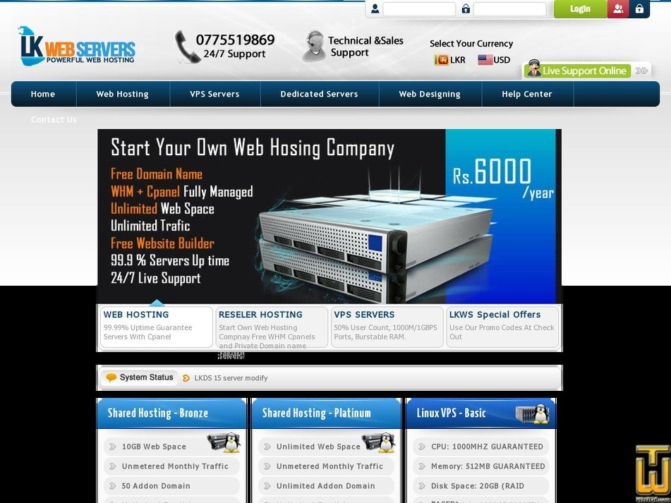 lkwebservers.com Screenshot