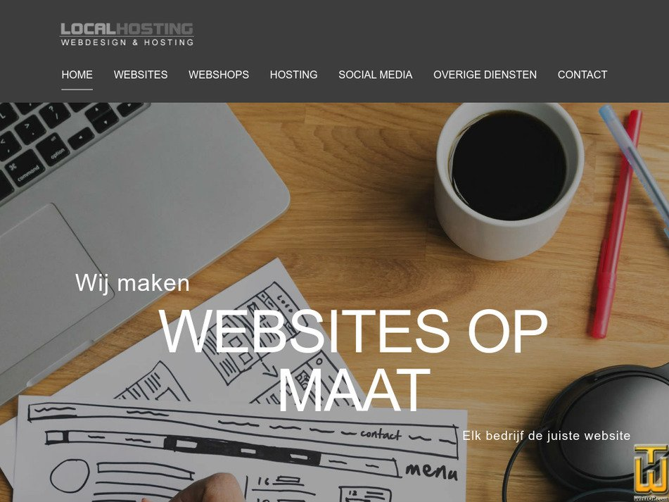 localhosting.nl Screenshot