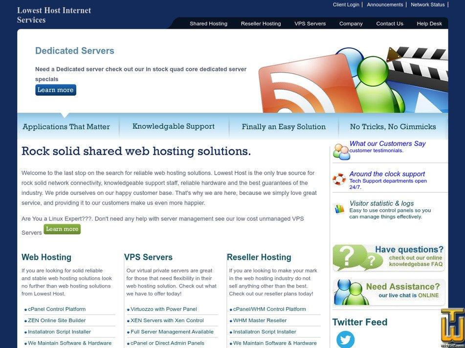 lowesthost.com Screenshot