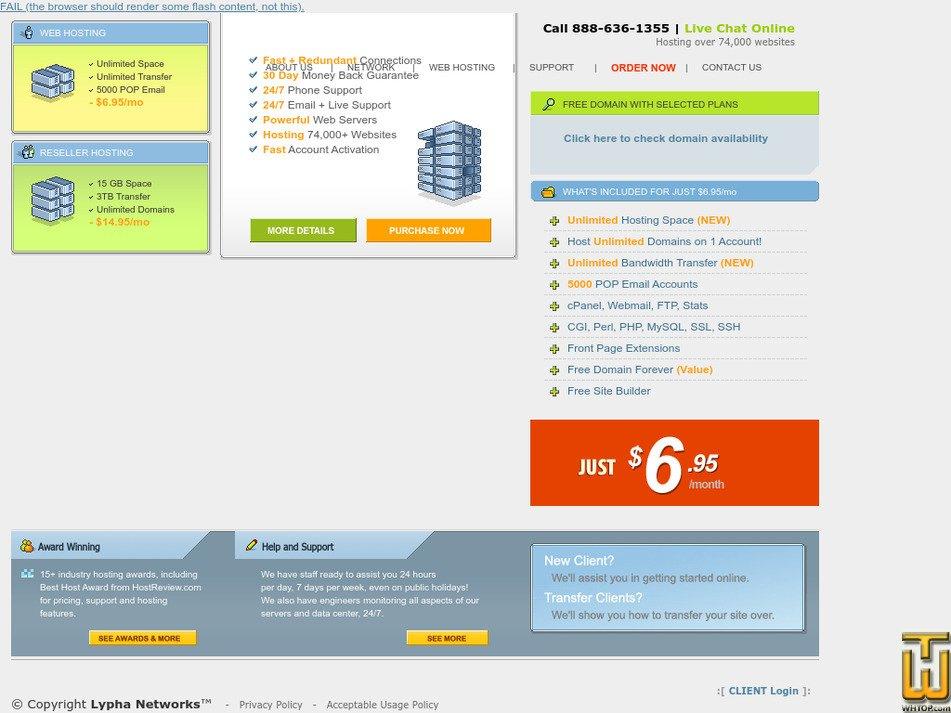 lypha.com Screenshot