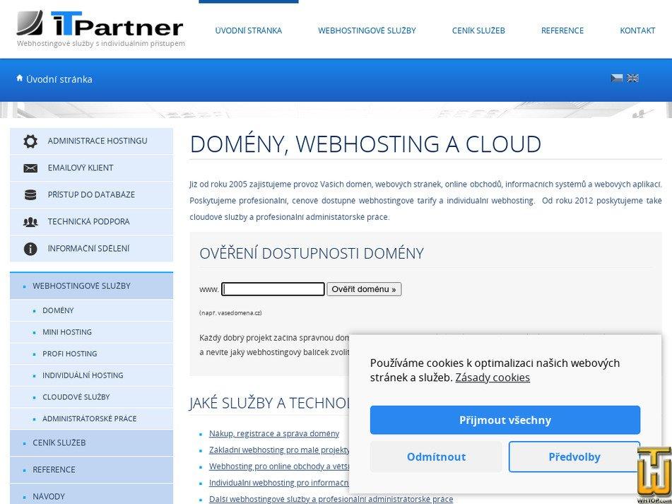 m-hosting.cz Screenshot