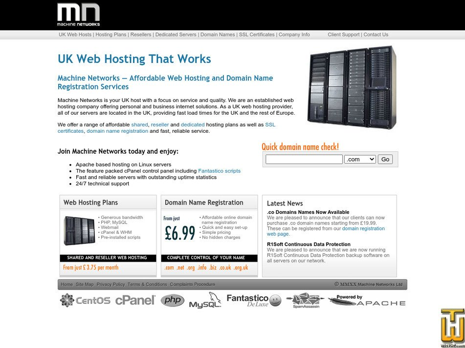 Dedicated server bandwidth p j