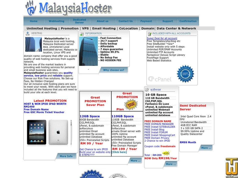 malaysiahoster.com Screenshot