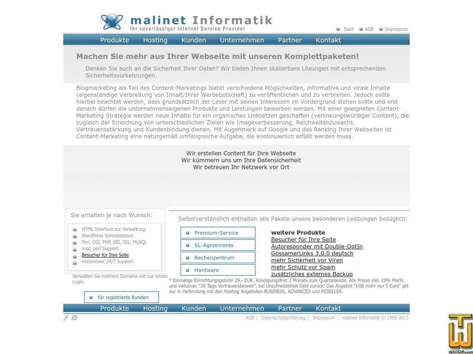 malihost.com Screenshot