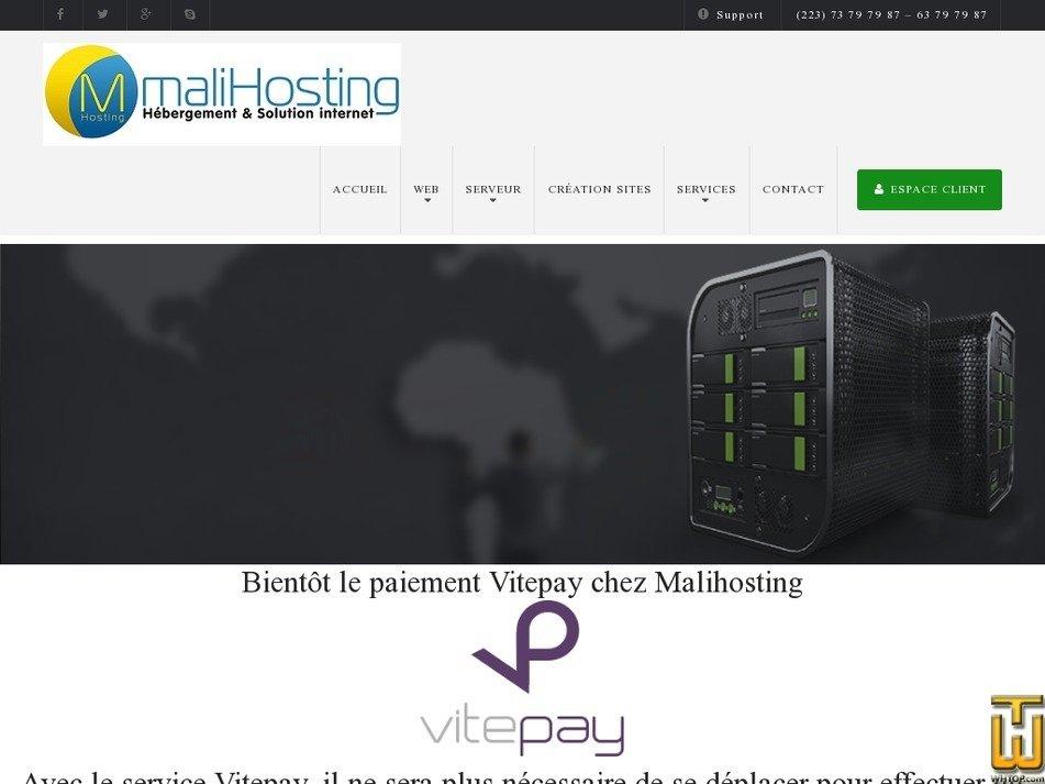 malihosting.com Screenshot