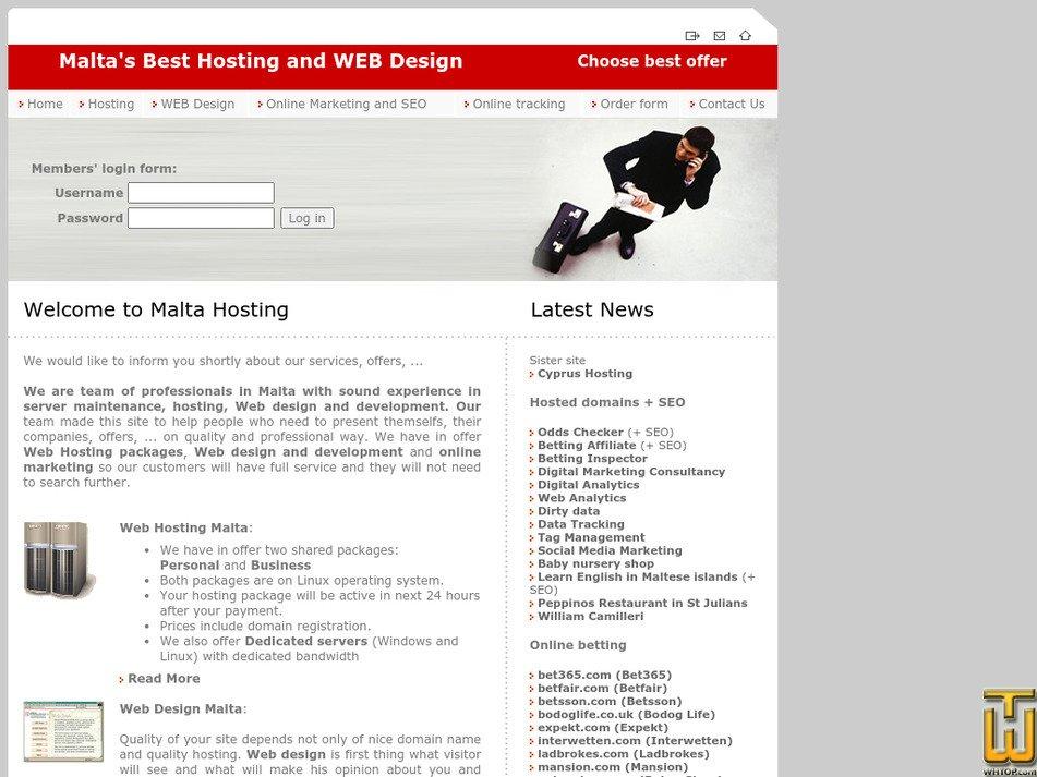 maltahosting.net Screenshot