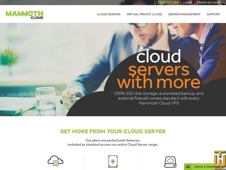 mammoth.com.au Screenshot