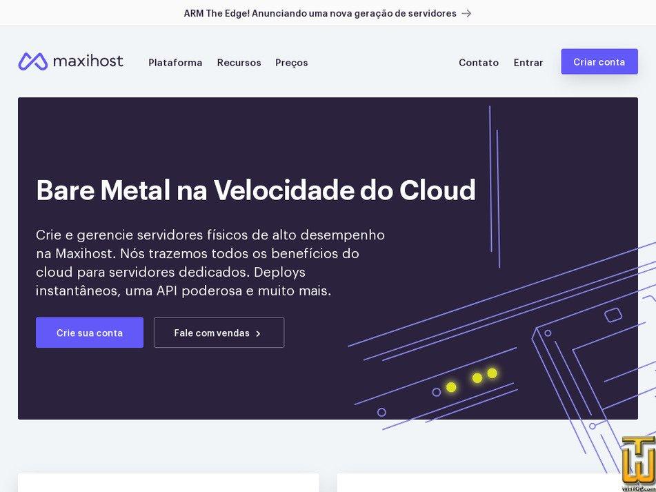 maxihost.com.br Screenshot