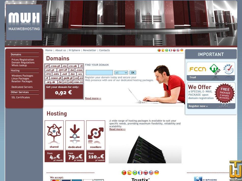 maxiwebhosting.com Screenshot