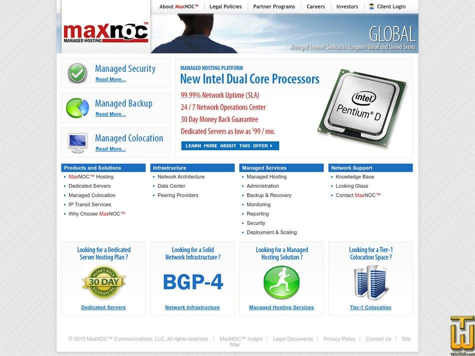 maxnoc.com Screenshot