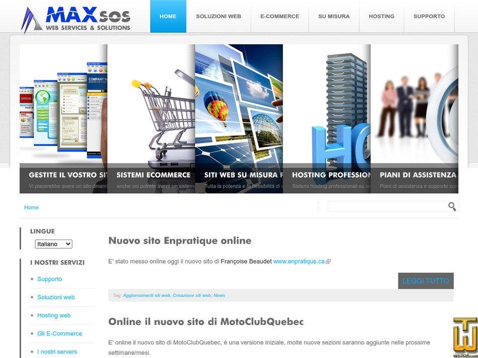 maxsos.com Screenshot