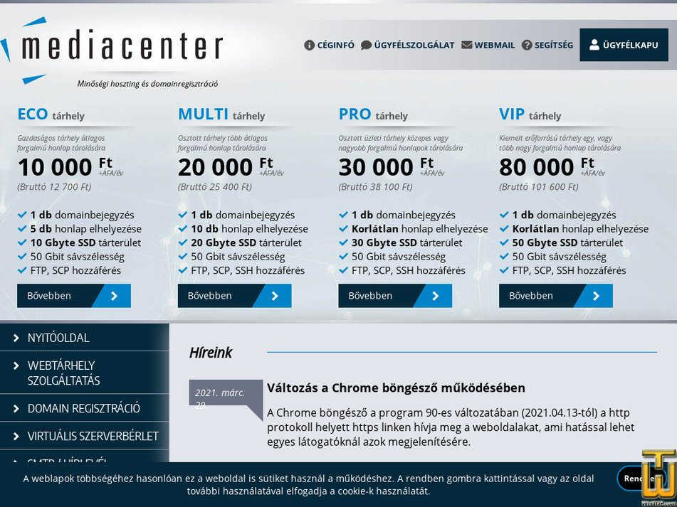 mediacenter.hu Screenshot