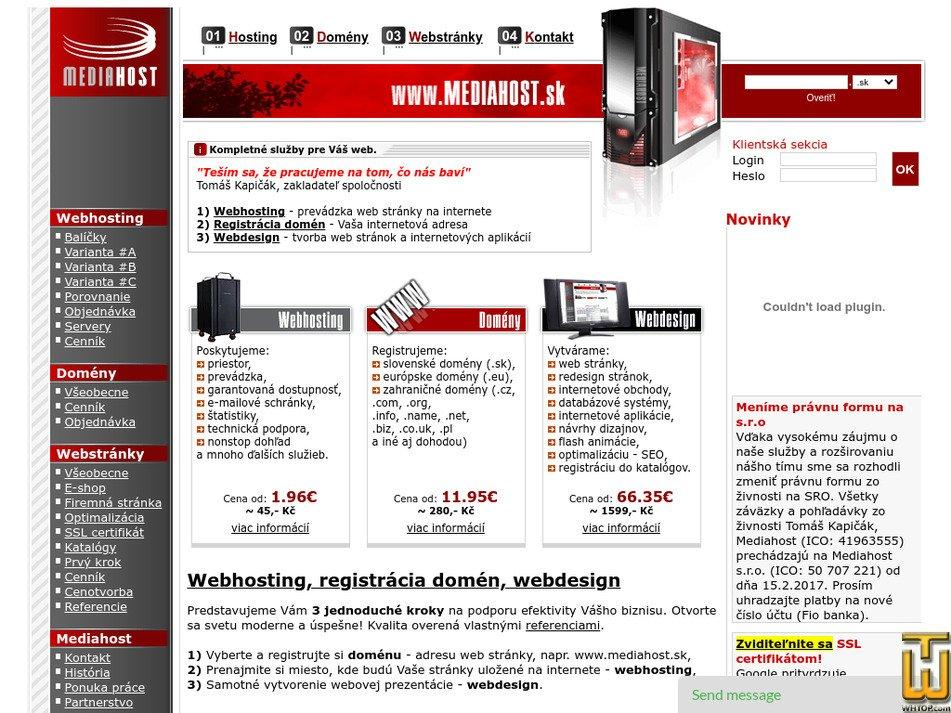 mediahost.sk Screenshot