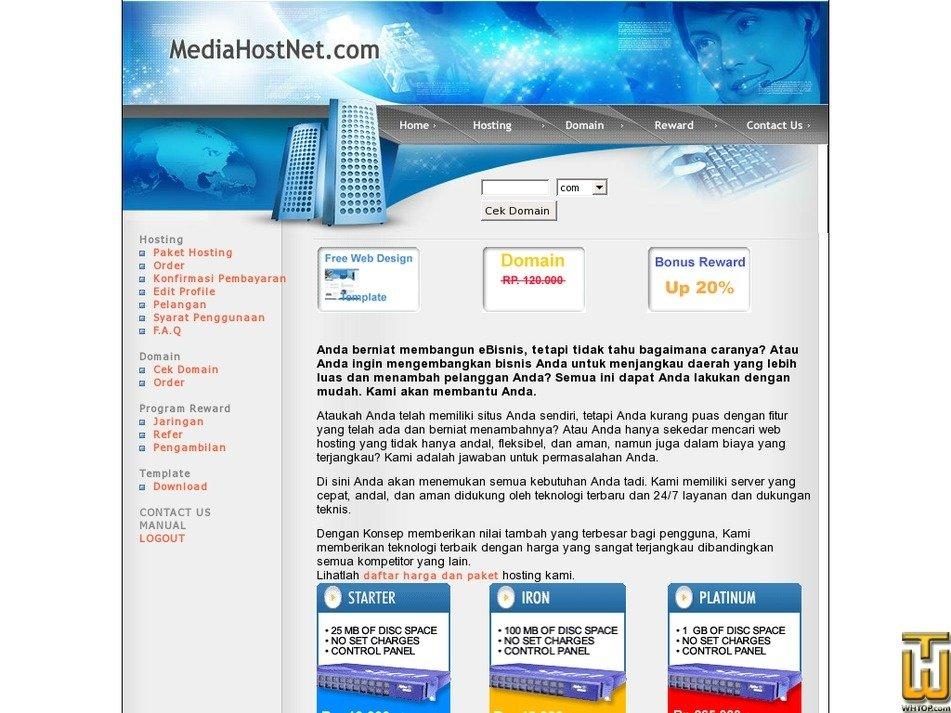 mediahostnet.com Screenshot