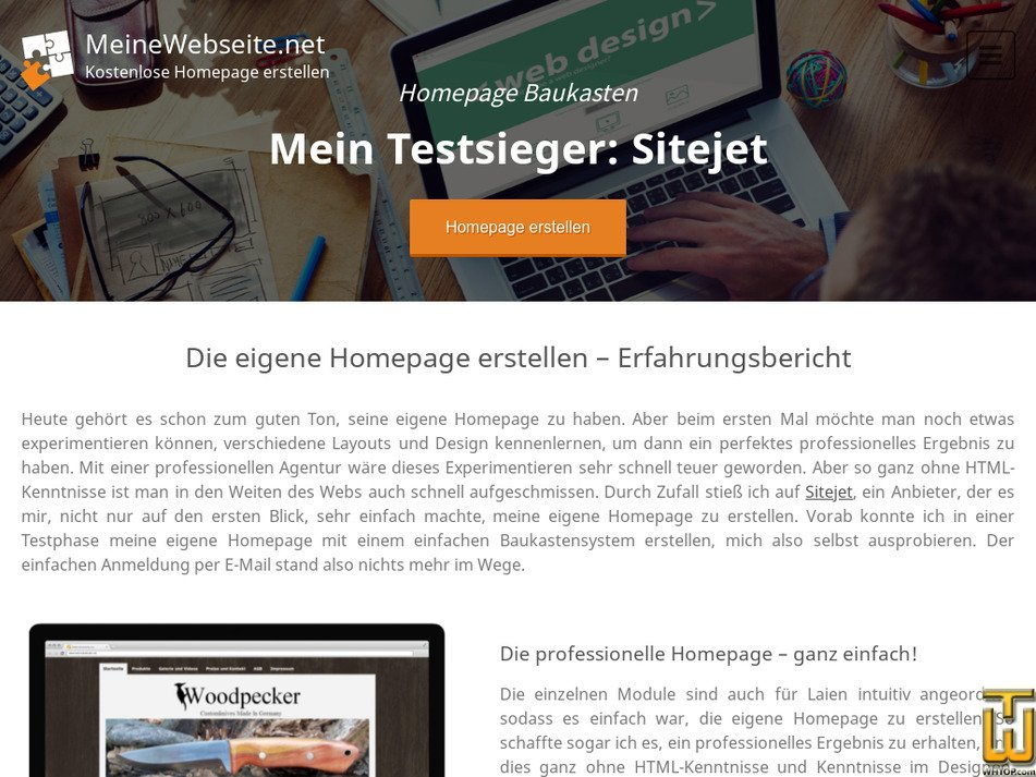 meinewebseite.net Screenshot