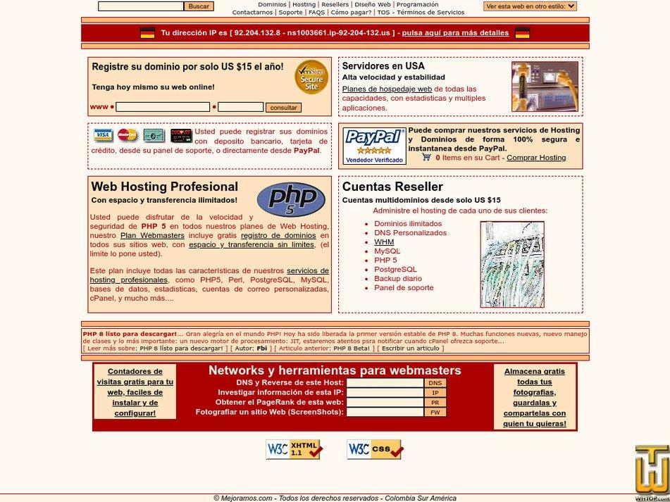 mejoramos.com Screenshot