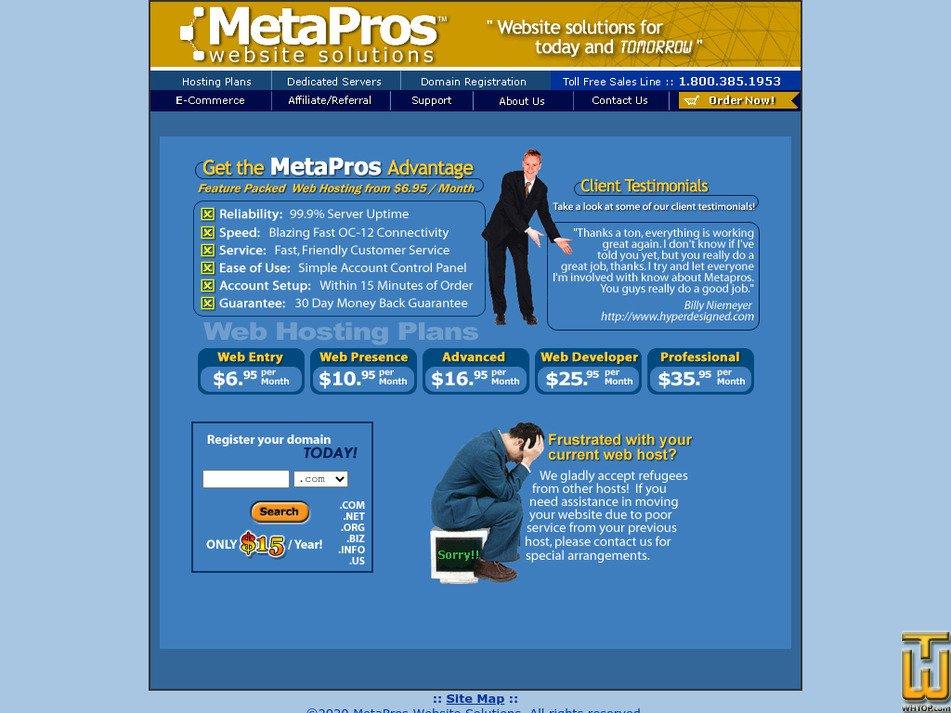 metapros.net Screenshot