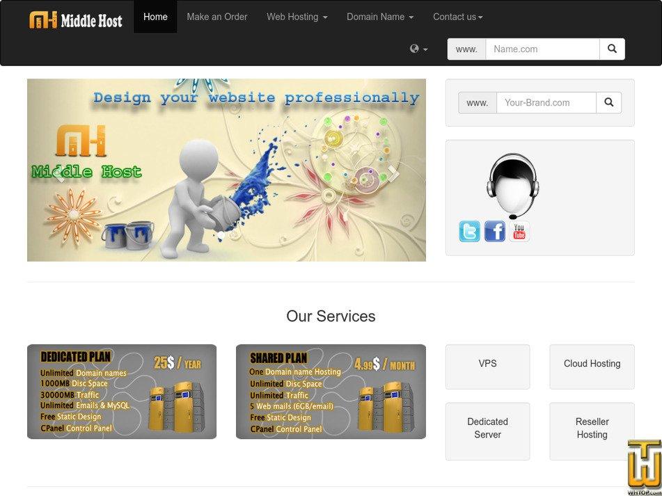 midlhost.com Screenshot