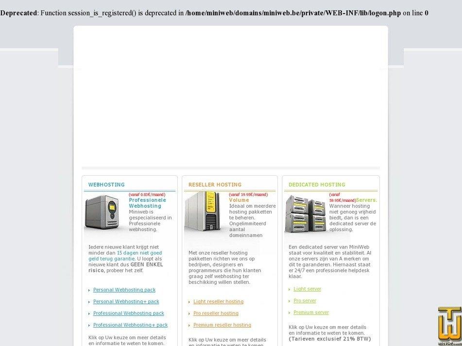 miniweb.be Screenshot