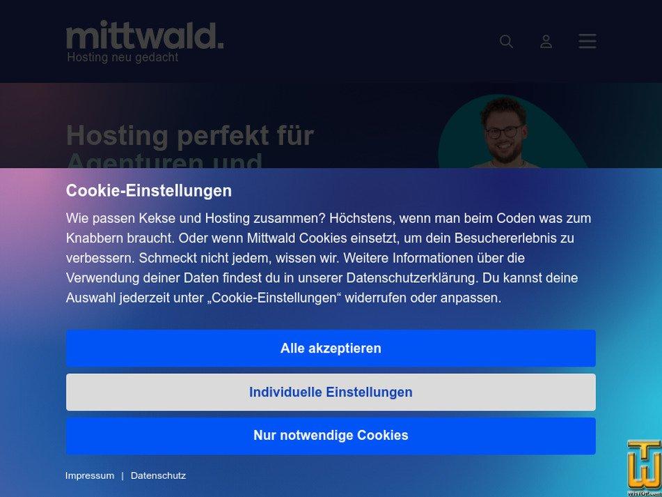 mittwald.de Screenshot
