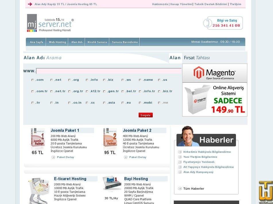 mjserver.net Screenshot