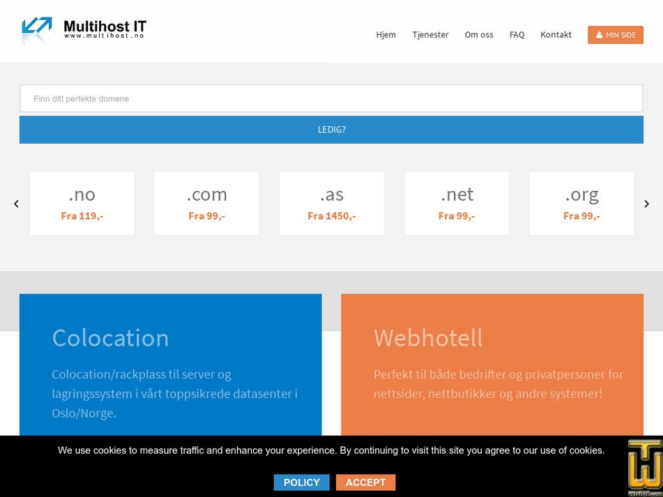 multihost.no screenshot