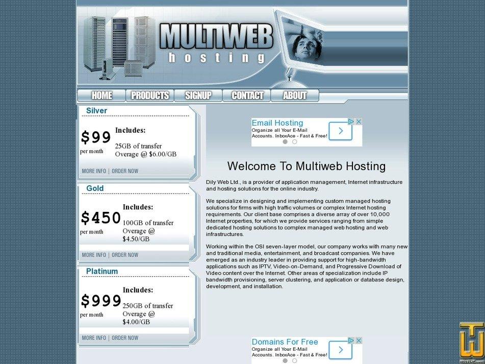 multiwebhosting.com Screenshot