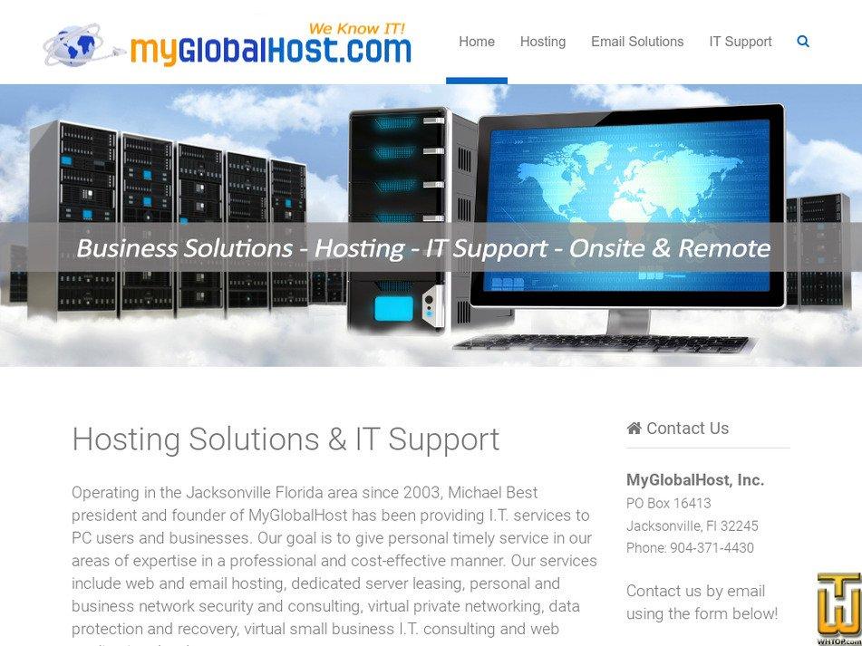 myglobalhost.com Screenshot