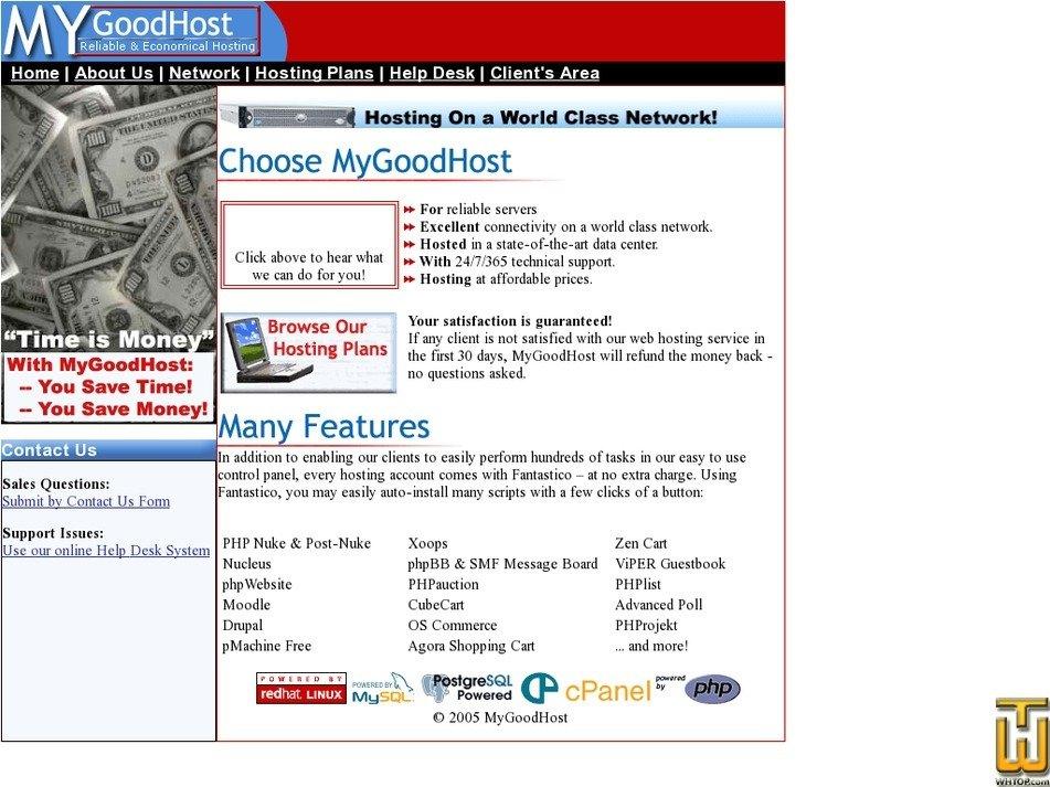 mygoodhost.com Screenshot
