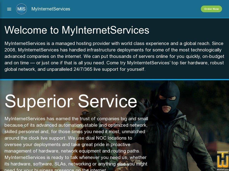 myinternetservices.com Screenshot