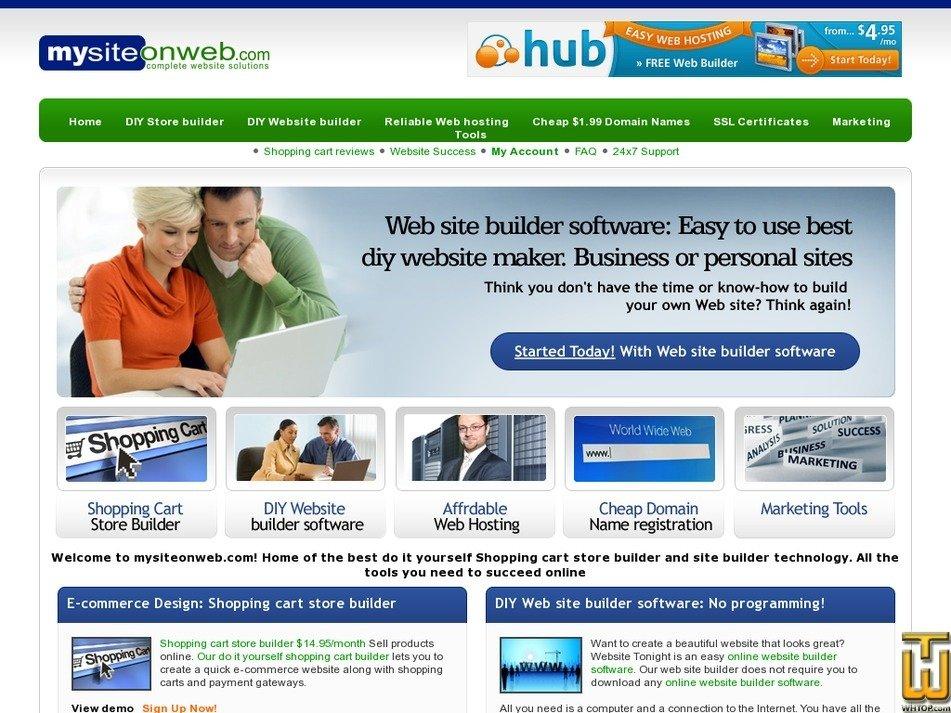 mysiteonweb.com Screenshot