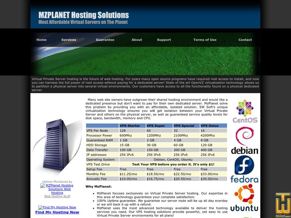 mzplanet.com Screenshot