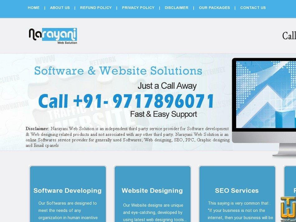narayaniwebsolution.com Screenshot