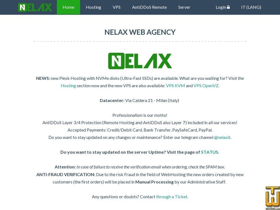 nelax.it screenshot