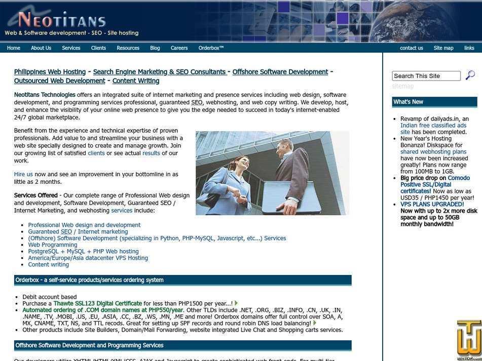 neotitans.com Screenshot