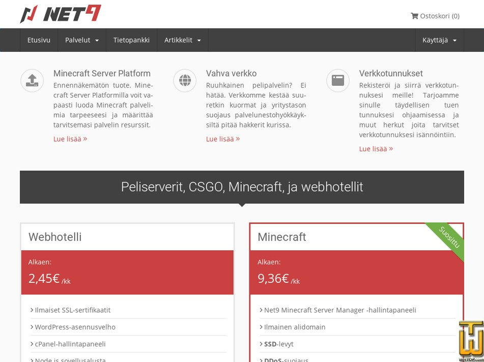 net9.fi Screenshot