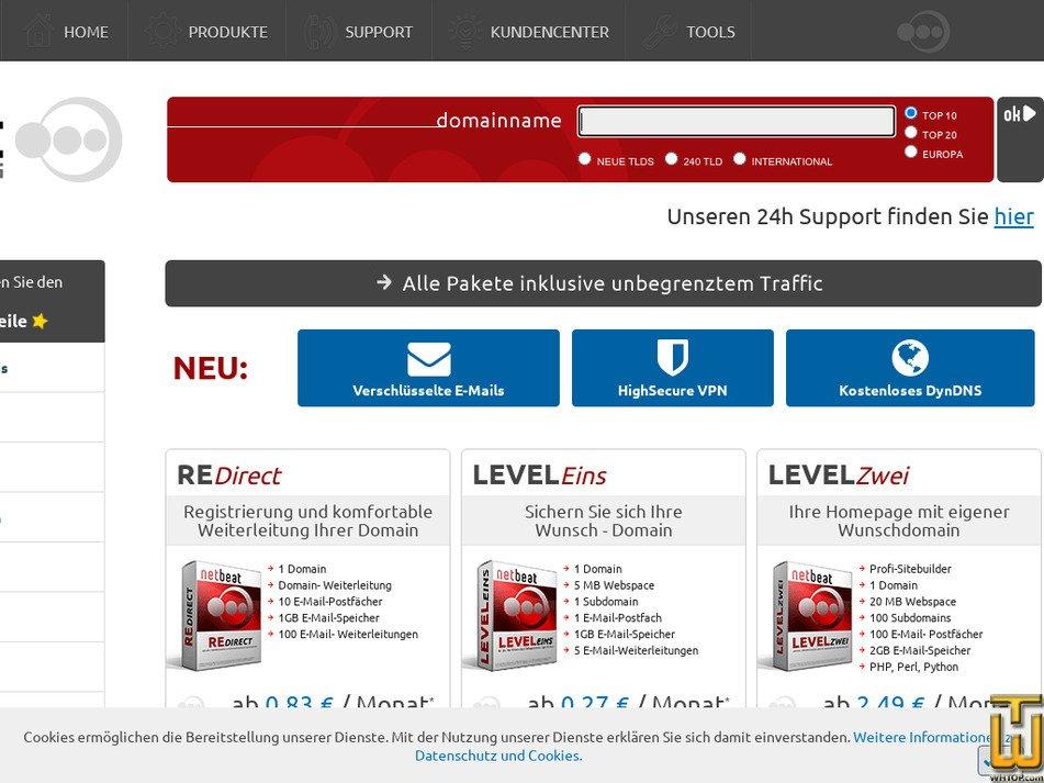 netbeat.de Screenshot
