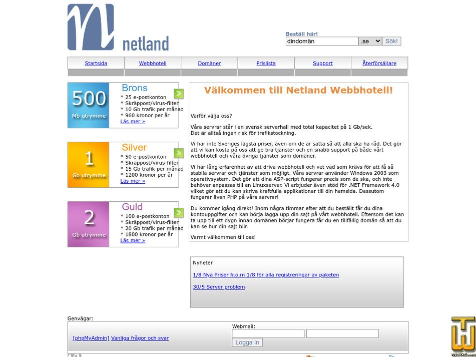 netland.se Screenshot
