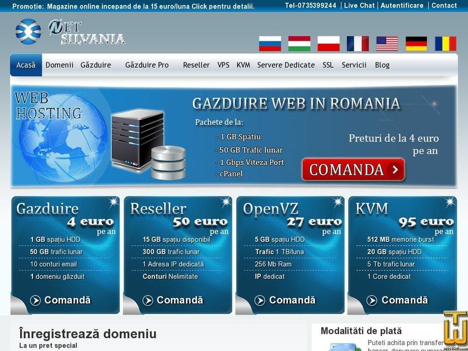 netsilvania.com Screenshot