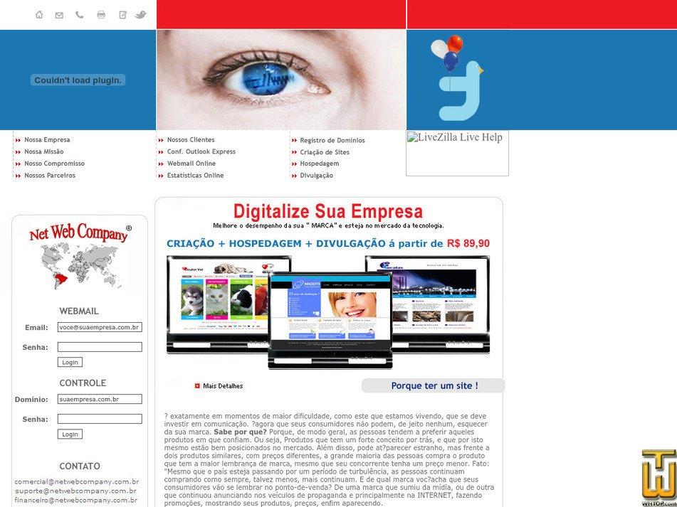 netwebcompany.com.br Screenshot