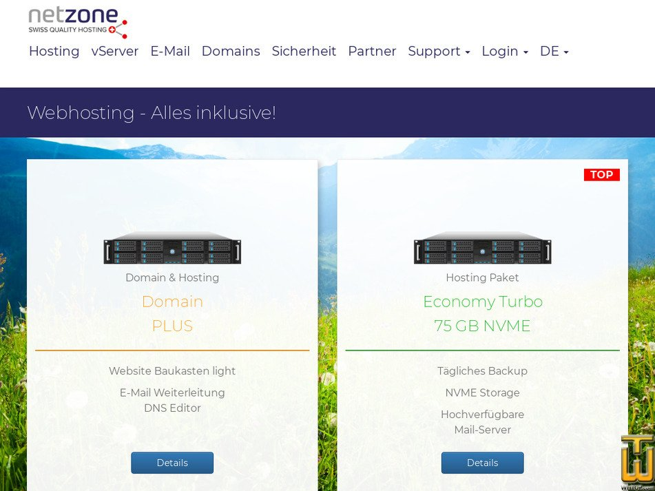 netzone.ch Screenshot