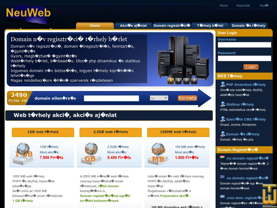 neuweb.hu Screenshot
