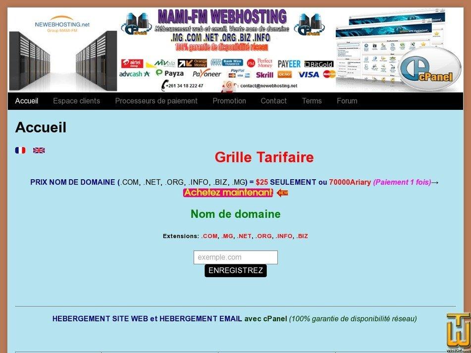 newebhosting.net screenshot