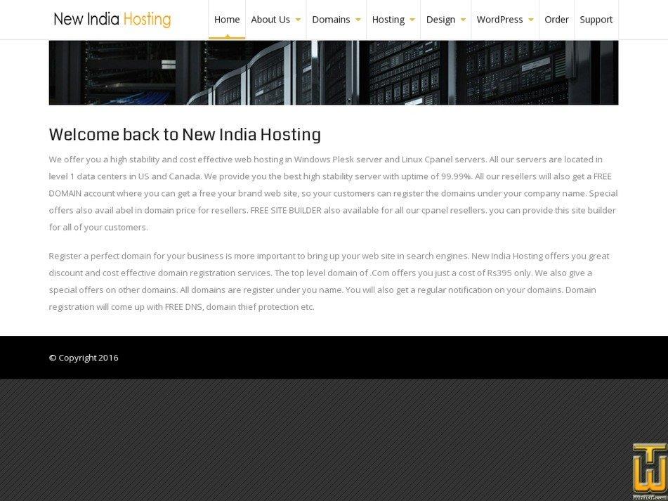newindiahosting.com Screenshot