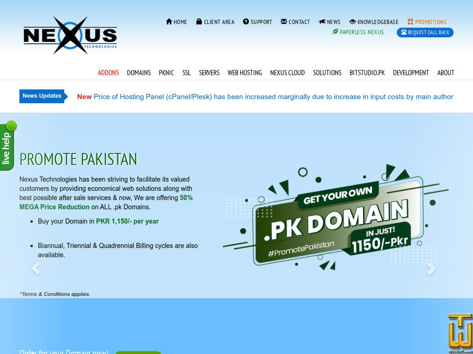 nexus.pk Screenshot