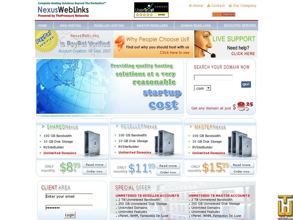 nexusweblinks.com Screenshot