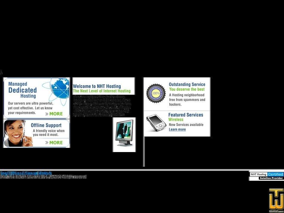 nhthosting.com Screenshot